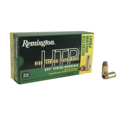 Remington High Terminal Performance Ammo 40 S&W 155gr Jhp 40 S&W 155gr Jacketed Hollow Point 50/Box USA & Canada
