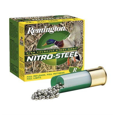 Remington Nitro Steel High Velocity Ammo 12 Gauge 3 1 2 1 1 2 Oz Bb Shot 12 Gauge 3 1 2 1 1 2 Oz Bb Shot 25 Box