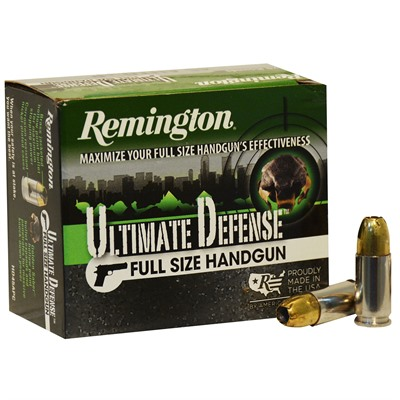 Remington Hd Ultimate Defense Ammo 9mm Luger p 124gr Jhp 9mm Luger p 124gr Jacketed Hollow Point 20/Box USA & Canada