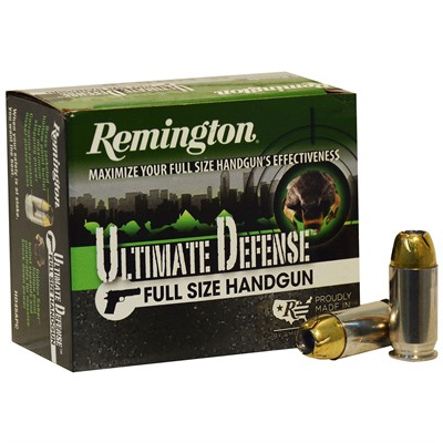 Remington Hd Ultimate Defense Ammo 45 Auto p 185gr Jhp 45 Auto p 185gr Jacketed Hollow Point 20/Box