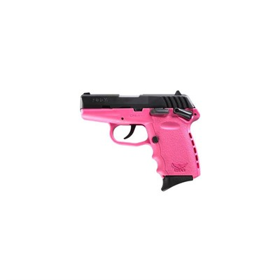 Sccy Industries, Llc Cpx-1 3.1in 9mm Black Nitride Pink Polymer Fixed 3-Dot 10+1rd