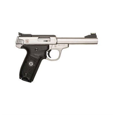 Smith & Wesson Sw22 Victory 5.5in 22 Lr Satin Stainless Polymer Adj Fo 10+1rd