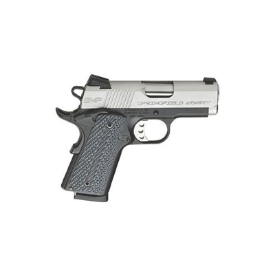 1911-A1 Emp Compact 3in 40 S&w Stainless G10 Grips Fixed 8+1rd.