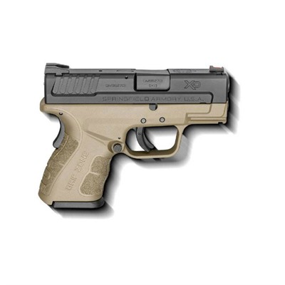Springfield Armory Xd Mod.2 Sub-Compact 3in 9mm Black Fde 3 Dot Fixed 10+1rd