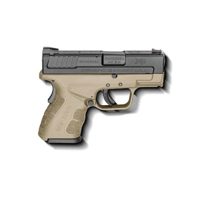 Springfield Armory Xd Mod.2 Sub-Compact 3in 40 S&W Black Fde 3 Dot Fixed 12+1rd