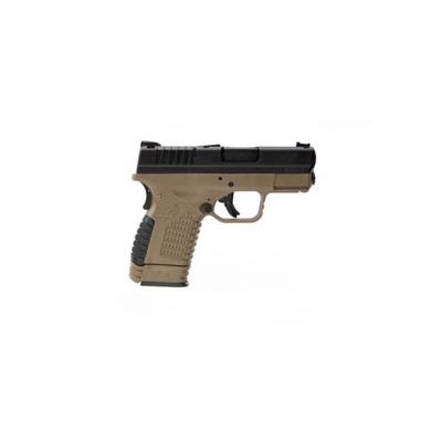 Springfield Armory Xd-S Essentials Package 3.3in 9mm Black Fde 3 Dot Fixed 8+1rd
