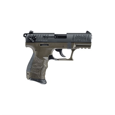 P22 Military 3.42in 22 Lr Od Green 3 Dot Fixed 10+1rd.