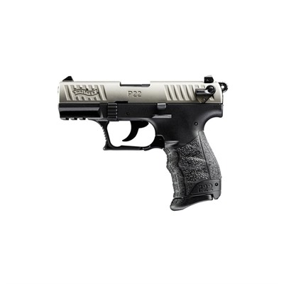 Walther Arms Inc P22 3.42in 22 Lr Nickel Black Polymer 3 Dot Fixed 10+1rd