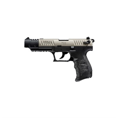 Walther Arms Inc P22 Target 5in 22 Lr Nickel Black Polymer 3 Dot Fixed 10+1rd