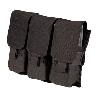 Blackhawk Ar-15 Strike Triple Mag Pouch Holds 6 - Strike  Triple Mag Pouch Holds 6 - Black