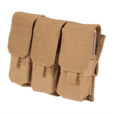 Ar-15 Strike Triple Mag Pouch Holds 6 - Strike  Triple Mag Pouch Holds 6 - Coyote Tan