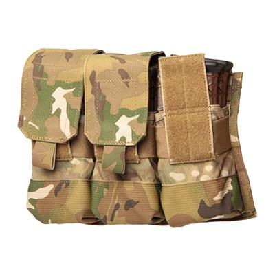 Ar-15 Strike Triple Mag Pouch Holds 6 - Strike  Triple Mag Pouch Holds 6 - Multi-Cam