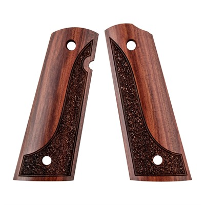 Artisan Stock And Gunworks Inc 1911 Exotic Wood Grips - 1911 Exotic Wood Grip Made From Redheart