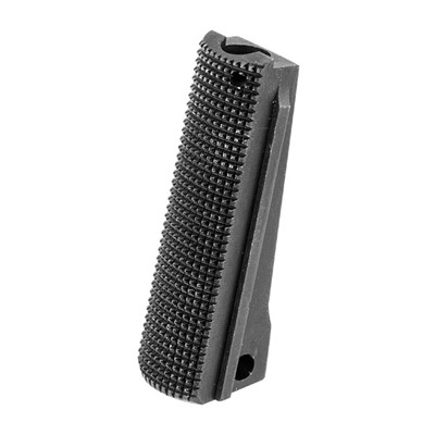 Fusion Firearms 1911 Checkered Alloy Government Mainspring Housings - 1911 Govt Black Checkered Alloy Mainspring Housing