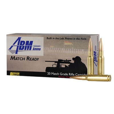 Image of Abm Ammo Match Ready Target Ammo 308 Winchester 155.5gr Berger Match