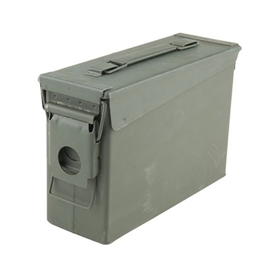 30 Caliber Ammo Can Steel Green - 30 Cal Forest Green Ammo Can