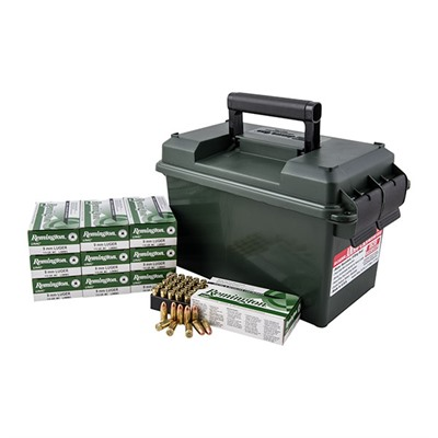 Remington Umc Ammo 9mm Luger 115gr Fmj Ammo Can 9mm Luger 115gr Full Metal Jacket 500/Ammo Can