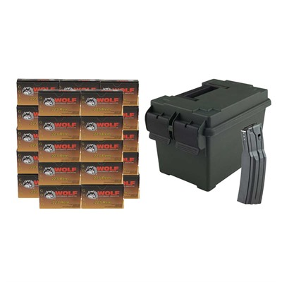 Gold Ammo 223 Remington 55gr Fmj With Surefire 60 Mag - 223 Remington 55gr Fmj 500/Ammo Can & Surefi