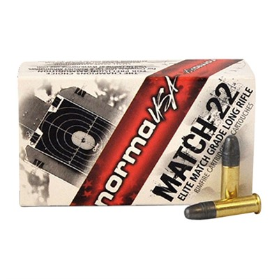 Match-22 Ammo 22 Long Rifle 40gr Lead Round Nose - 22 Long Rifle 40gr Lead Round Nose 500/Box