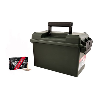 Tac Ammo 223 Remington 55gr Fmj Ammo Can - 223 Remington 55gr Full Metal Jacket 500/Can