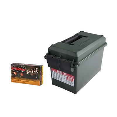 X-Tac 5.56 Ammo Cans - 5.56 Nato 62gr Green Tip Penetrator 400/Rd Ammo Can