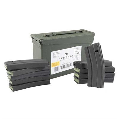 Federal Lake City Ammo 5.56x45mm Nato 55gr Xm193 With Brownells Mags 5.56x45mm Nato 55gr Fmj 420 Can & 10 30 Rnd Ar 15 Mags