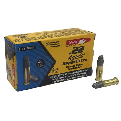 Aguila Superextra Standard Velocity Ammo 22 Long Rifle 40gr Lead Rn
