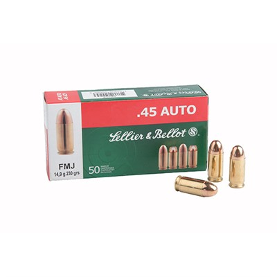 Sellier & Bellot 32 Auto/7.65 Browning 73gr Fmj Ammo - 32 Auto 73gr Full Metal Jacket 50/Box