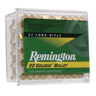 Golden Bullet Ammo 22 Long Rifle 40gr Cprn - 22 Long Rifle 40gr Copper Plated Round Nose 100/Box