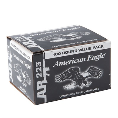 American Eagle Tactical Ammo 223 Remington 55gr Fmj-Bt - 223 Remington 55gr Full Metal Jacket Bt 100