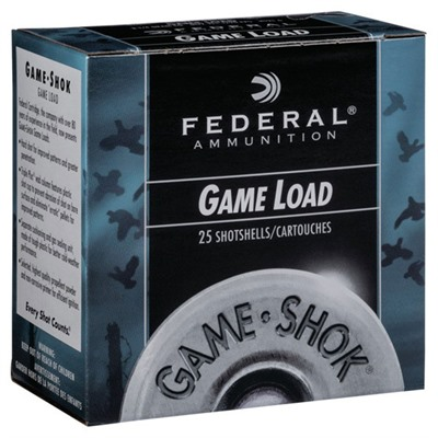 "Game-Shok Hi-Brass Ammo 12 Gauge 2-3/4"" 1 Oz #6 Shot - 12 Gauge 2-3/4"" 1 Oz #6 Shot 25/Box"