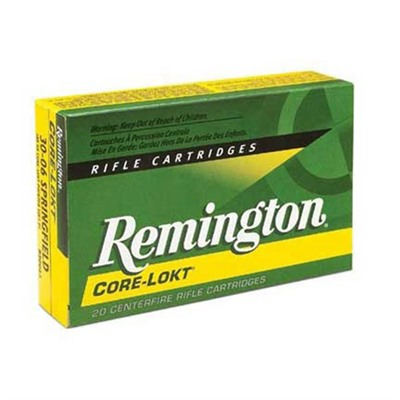 Remington Core Lokt Ammo 30 Winchester 170gr Hp 30 Winchester 170gr Hollow Point 20/Box