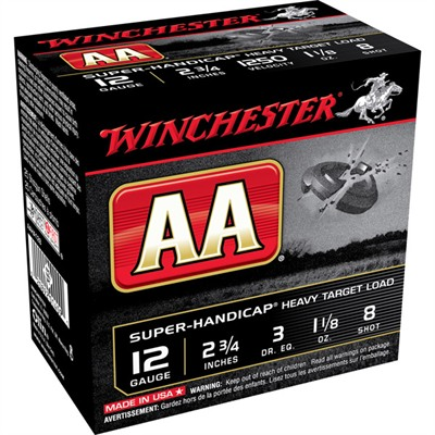 "Aa Super Handicap Ammo 12 Gauge 2-3/4"" 1-1/8 Oz #8 Shot - 12 Gauge 2-3/4"" 1-1/8 Oz #8 Shot"
