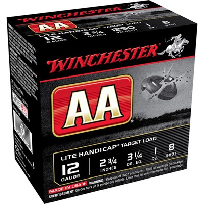 "Aa Lite Handicap Ammo 12 Gauge 2-3/4"" 1 Oz #8 Shot - 12 Gauge 2-3/4"" 1 Oz #8 Shot 25/Box"