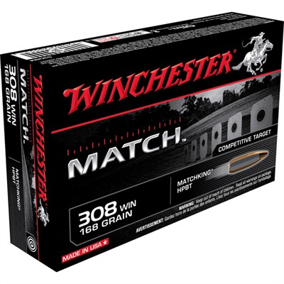 Winchester Match Rifle Ammunition Win Ammo 308 Win Supreme 168gr Hpbt Comp 20/Bx Discount