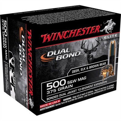 Winchester Dual Bond 454 Casull Ammo - 500 S&W 375gr Hollow Point 10/Box