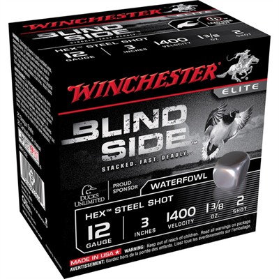 "Blind Side Ammo 12 Gauge 3"" 1-3/8 Oz #2 Steel Shot - 12 Gauge 3"" 1-3/8 Oz #2 Steel Shot 25"