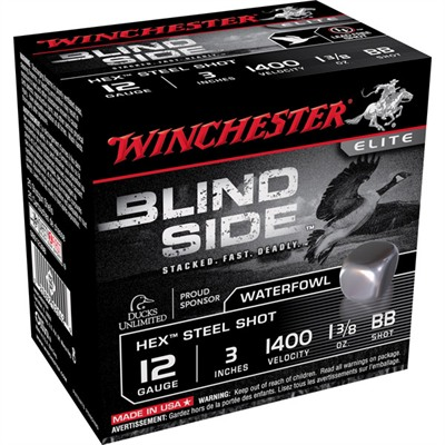 "Blind Side Shotgun Ammunition - Blind Side 12ga 3"" 1-3/8oz #bb Non-Toxic Steel Shot"
