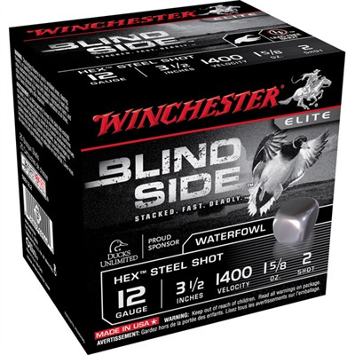 "Blind Side Shotgun Ammunition - Blind Side 12ga 3.5"" 1-5/8oz #2 Non-Toxic Steel Shot"