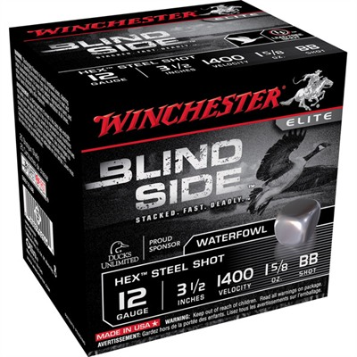 "Blind Side Shotgun Ammunition - Blind Side 12ga 3.5"" 1-5/8oz #bb Non-Toxic Steel Shot"