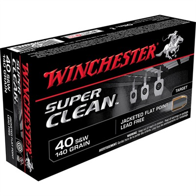 Winchester Super Clean Nt Handgun Ammunition - 40 S&W 140gr Jfp Super Clean Nt 50/Box