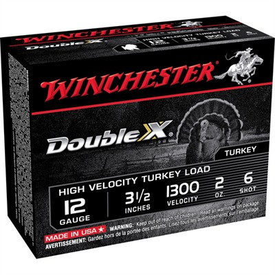 "Winchester Double X Turkey Ammo 12 Gauge 3-1/2"" 2 Oz #6 Shot"