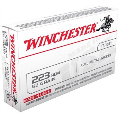 "Winchester ""white Box"" Rifle Ammunition - Winchester Target Ammo .223 Rem 55gr Fmj 20/Bx"
