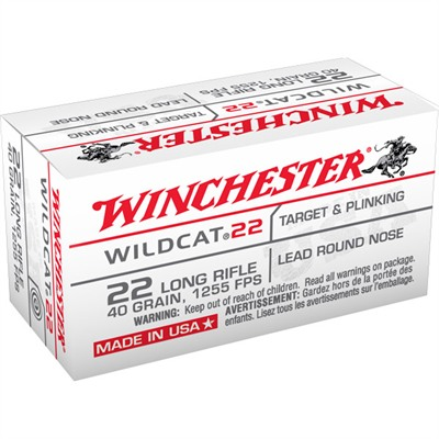 Wildcat 22 Ammo 22 Long Rifle 40gr Lead Round Nose - 22 Long Rifle 40gr Lead Round Nose 50/Box