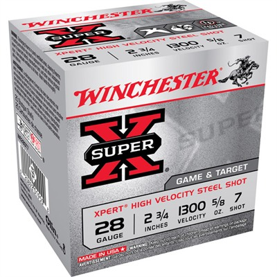 "Super-X Game & Target Ammo 28 Gauge 2-3/4"" 5/8 Oz #7 Shot - 28 Gauge 2-3/4"" 5/8 Oz #7 Shot"