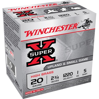 Winchester Super-X High Brass Ammo 20 Gauge 2-3/4