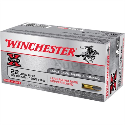 winchester super x ammo 22 long rifle 40gr lead round nose 22 long rifle 40gr lead round nose 50 box