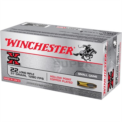 Winchester Super X Ammo 22 Long Rifle 37gr Lead Hollow Point 50/Box USA & Canada