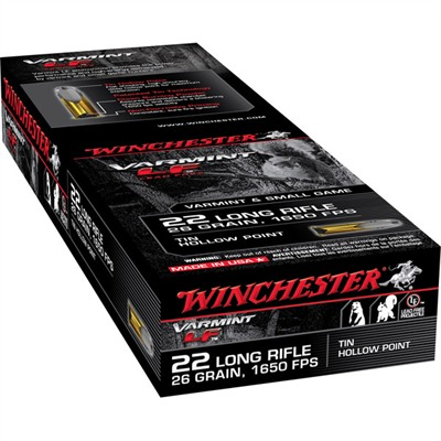 Varmint Lf Ammo 22 Long Rifle 26gr Hollow Point - 22 Long Rifle 26gr Hollow Point 50/Box