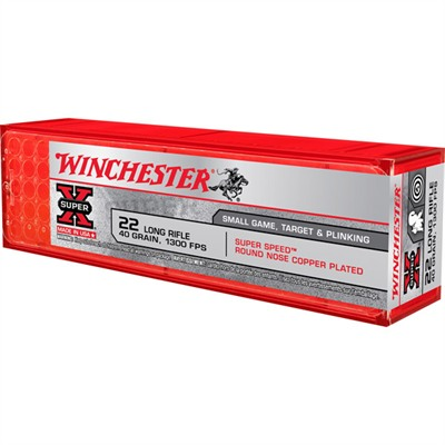 Super-X Ammo 22 Long Rifle 40gr Lead Round Nose - 22 Long Rifle 40gr Lead Round Nose 100/Box